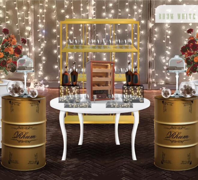 Drink corner RHUM WHITE AND GOLD